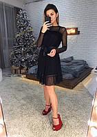 Женское стильное платье в горошек , фото 1