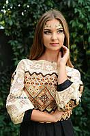 """Праздничное платье с вышивкой в етно стиле """"Кружева"""""""
