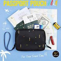 Двойной Brocade Многофункциональный палубный паспортный сумка-кошелек Большая грузоподъемность Туристический агент Мужчины берут владение