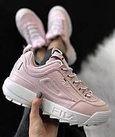 Кроссовки в стиле FILA Disruptor 2 Pink & White женские