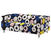 Двухместный диван IKEA KLIPPAN Разноцветный (892.517.83), фото 1