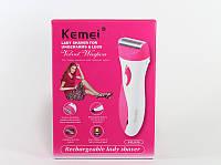 Женская электробритва km301, удалит лишние волосы на теле, работает на аккумуляторе, зарядка 220v, фото 1