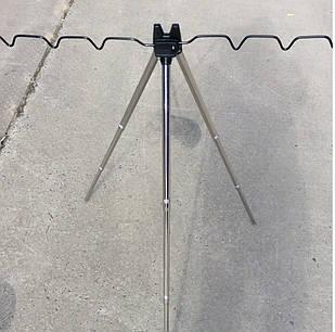 Подставка тренога для удочек металлическая фидерная