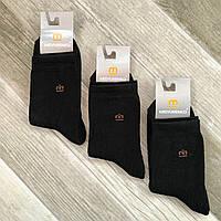 Носки подросток махровые х/б Мисюренко, 23 размер, чёрные, 0947