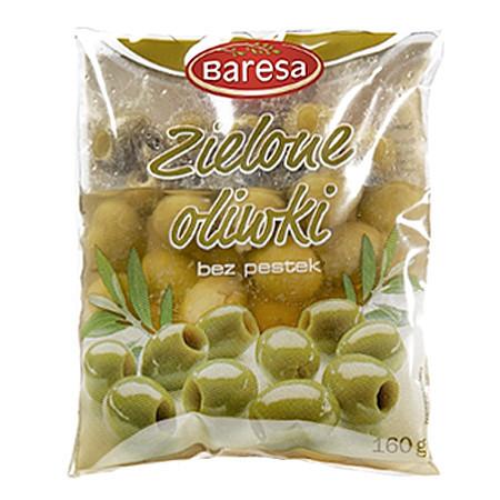 Оливки зелені без кісточки Baresa 160 гр.