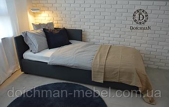 Мягкая кровать в детскую с боковинами