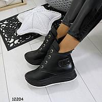 Женские ботинки на танкетке 12204