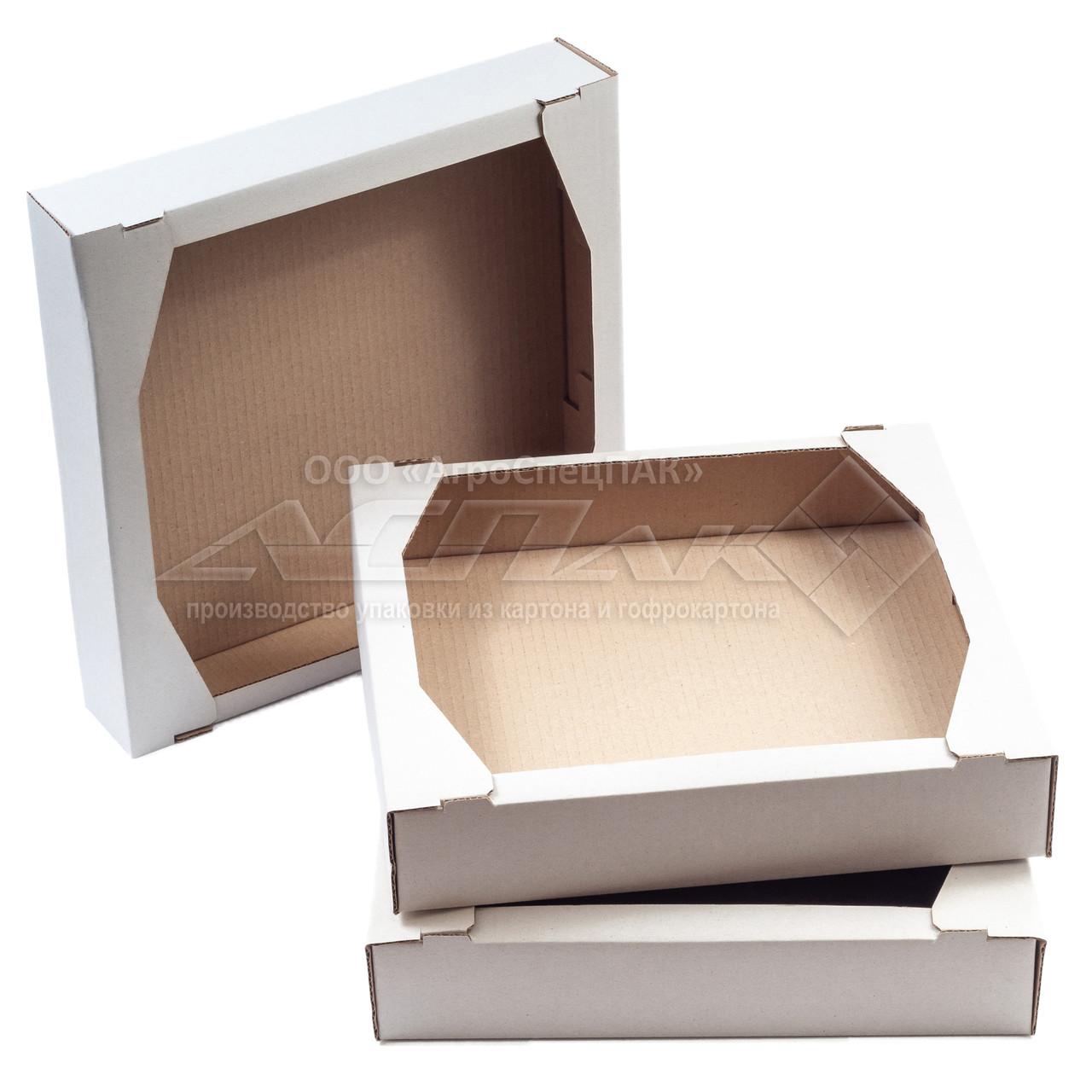 Кондитерский гофро-лоток 285х275х60 Е белый