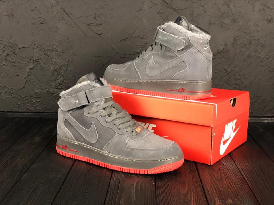 43535895 Мужские Зимние Кроссовки Nike Air Force 1 07 Mid (Реплика Люкс) - Магазин  брендовой