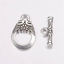 Застежка тогл 17х11мм античное серебро для рукоделия