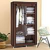 Тканевый шкаф 2 секции HCX «8890 brown» 90х45х170 см Коричневый
