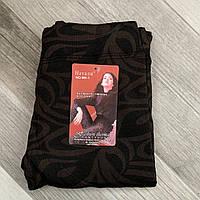 Термо лосины женские с начёсом Натали, размер XL-6XL, коричневые, рисунок 03, МК-1