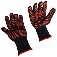 Экстремальные жаропрочные перчатки для приготовления барбекю-черный и красный 1TopShop