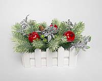"""Композиция из искусственных цветов """"Новогодняя"""", фото 1"""