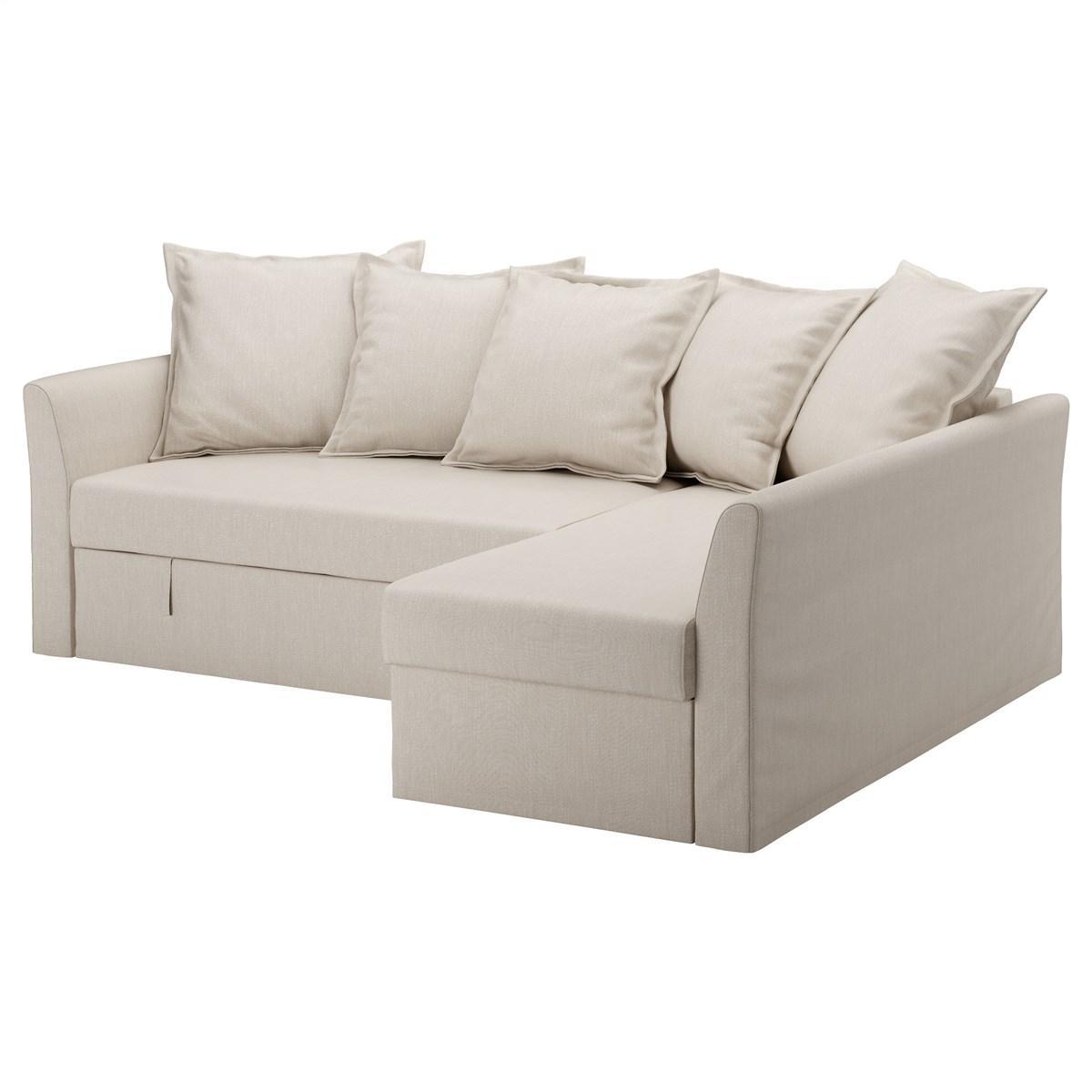 угловой диван кровать Ikea Holmsund бежевый 79150751 в
