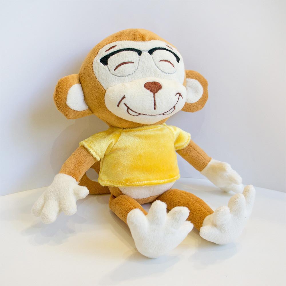 Мягкая игрушка Kronos Toys Обезьянка в очках 36 см zol592, КОД: 120742
