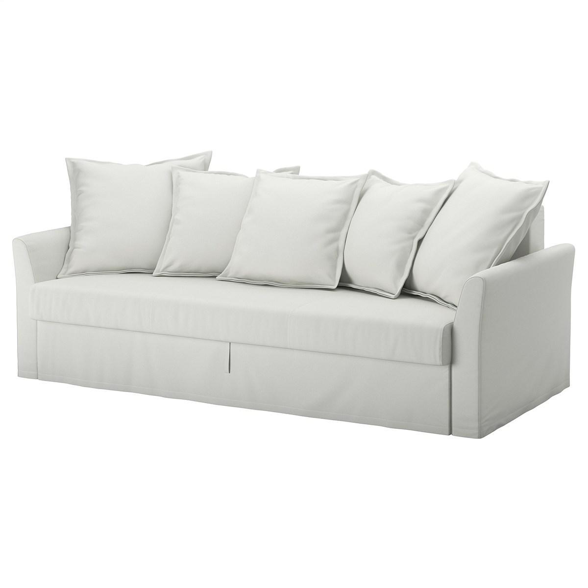 трехместный диван кровать Ikea Holmsund светло серый 89240761
