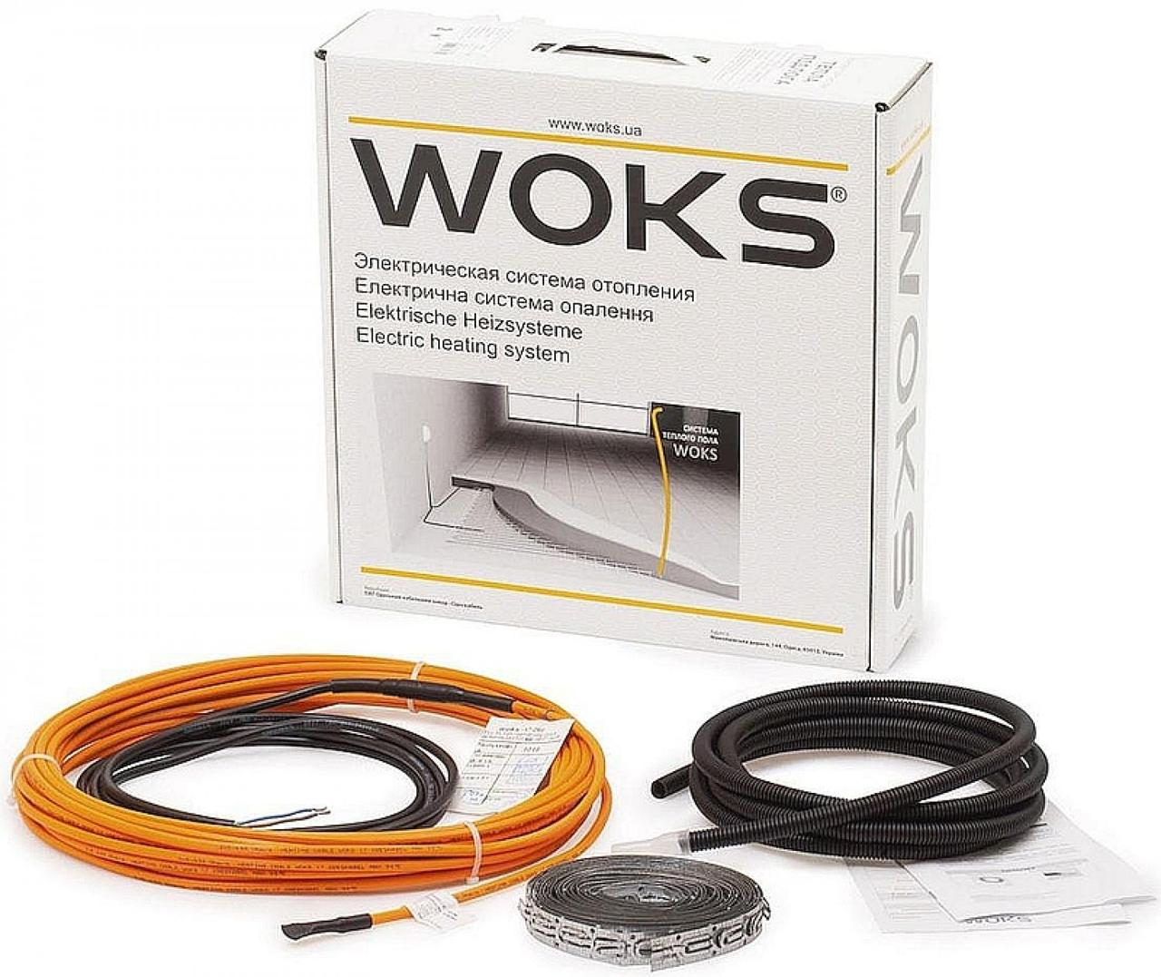 Теплый пол Woks 17 двухжильный кабель 2000 Вт 123 м 212000, КОД: 146160