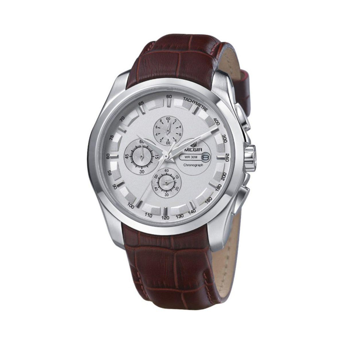 Часы Megir Silver Brown MG5003 ML5003GBN-7, КОД: 115936