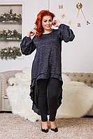 Туника женская нарядная по 56 размер, фото 1