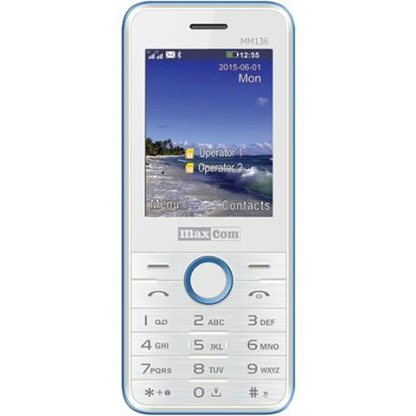Maxcom MM136 White-Blue 8173557, КОД: 102781