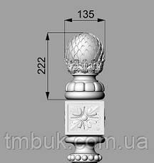 Заходной столб 16 - 1100х218х218 мм, фото 3