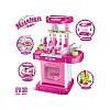 Кухня (розовая) с посудой, батар, музыка, свет 008-58, фото 2