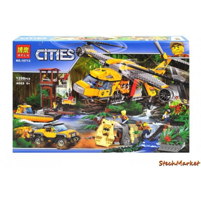 """Конструктор """"Исследователи тропических джунглей"""" Bela Cities 10713 1298 детали"""