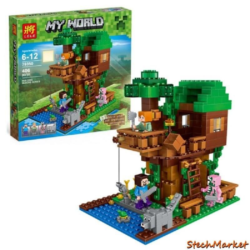 """Конструктор """"Домик у реки"""" Lepin Minecraft 18009 406 деталей"""