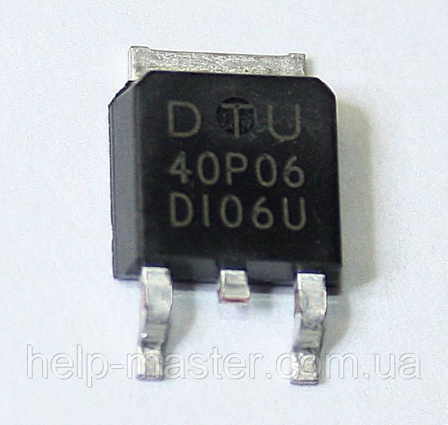 Транзистор DTU40P06 (TO-252)