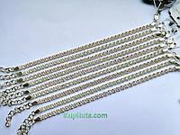 Серебряный браслет с камнями с кастом арабский бисмарк  СЛ