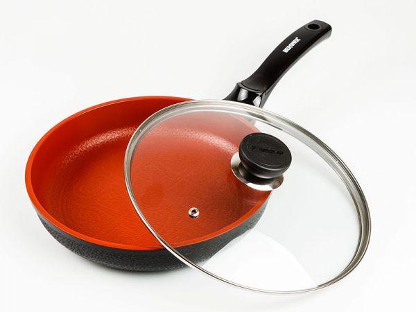 Сковорода терракотовое керамическое покрытие 26 см Bergner BG-6676