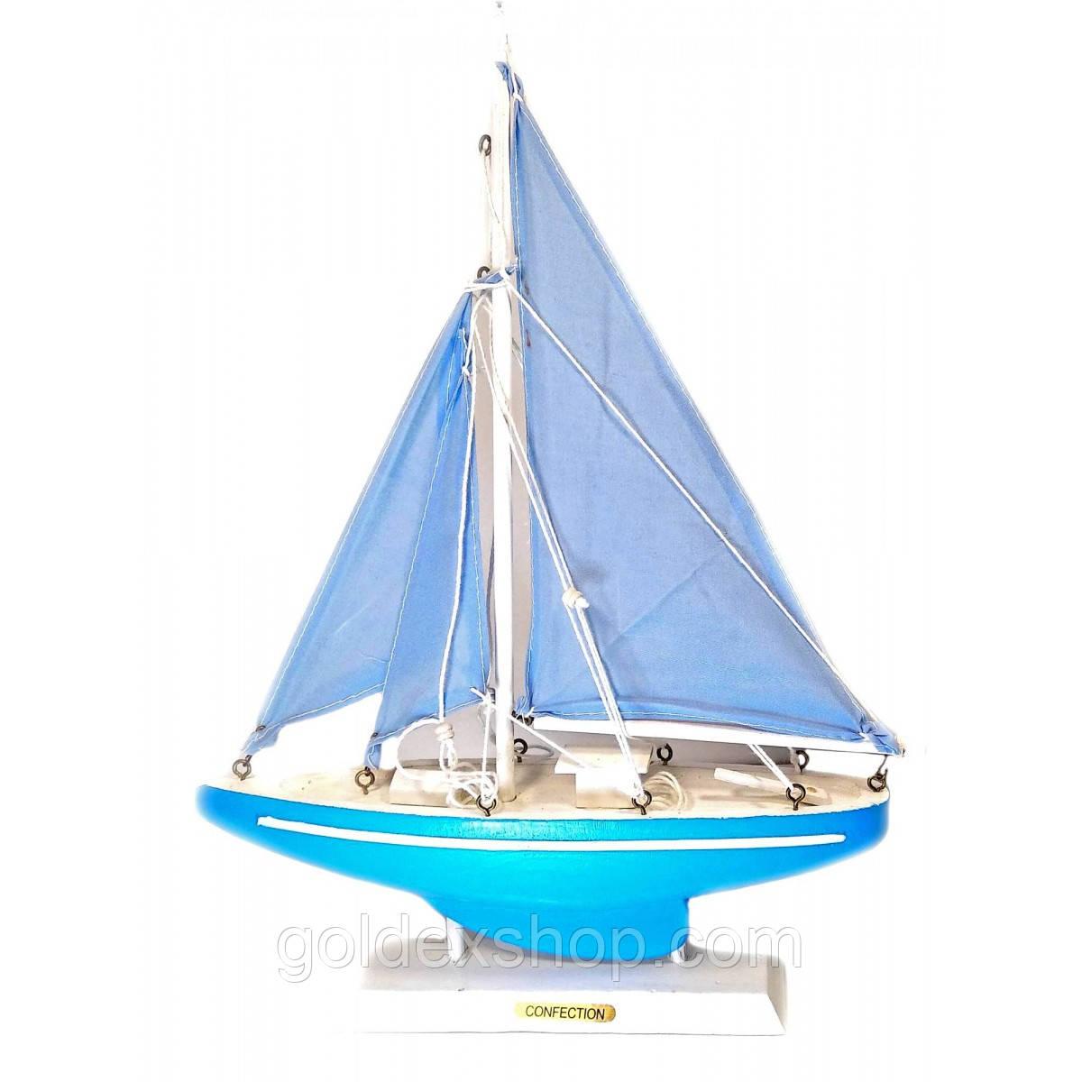 Статуэтка Яхта деревянная (24х33х5,5 см)