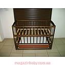 Акция!!! Детская кроватка маятник Малыш+ на подшипниках темная. Отличное качество., фото 6