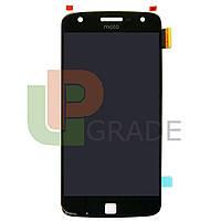 Дисплей для Motorola XT1635-02 Moto Z Play + тачскрин, черный,  OLED, копия хорошего качества