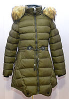 Зимняя парка, куртка для девочки рост 134