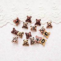 "Пуговицы ""Мишки ТЕДДИ"" для рукоделия, кукол, тедди  - 10 шт, США"