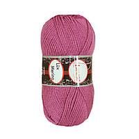 Зимняя пряжа Lanoso Lux Merino 275 35% шерсть Темная фуксия