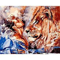 Набор живописи по номерам Его лев VP1071 Babylon Turbo 40 х 50 см