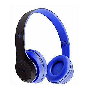 Bluetooth наушники MDR P47 (СИНИЕ)