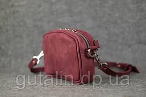 Женская сумка ручной работы из натуральной кожи Клатч цвет фиолетовый