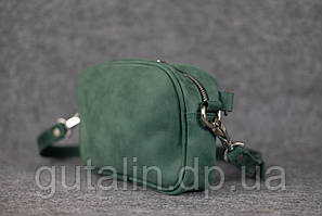Женская сумка ручной работы из натуральной кожи Клатч цвет зеленый