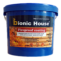 """Вогнезахисна фарба для дерева Bionic House """"Fireproof coating"""" 5кг"""
