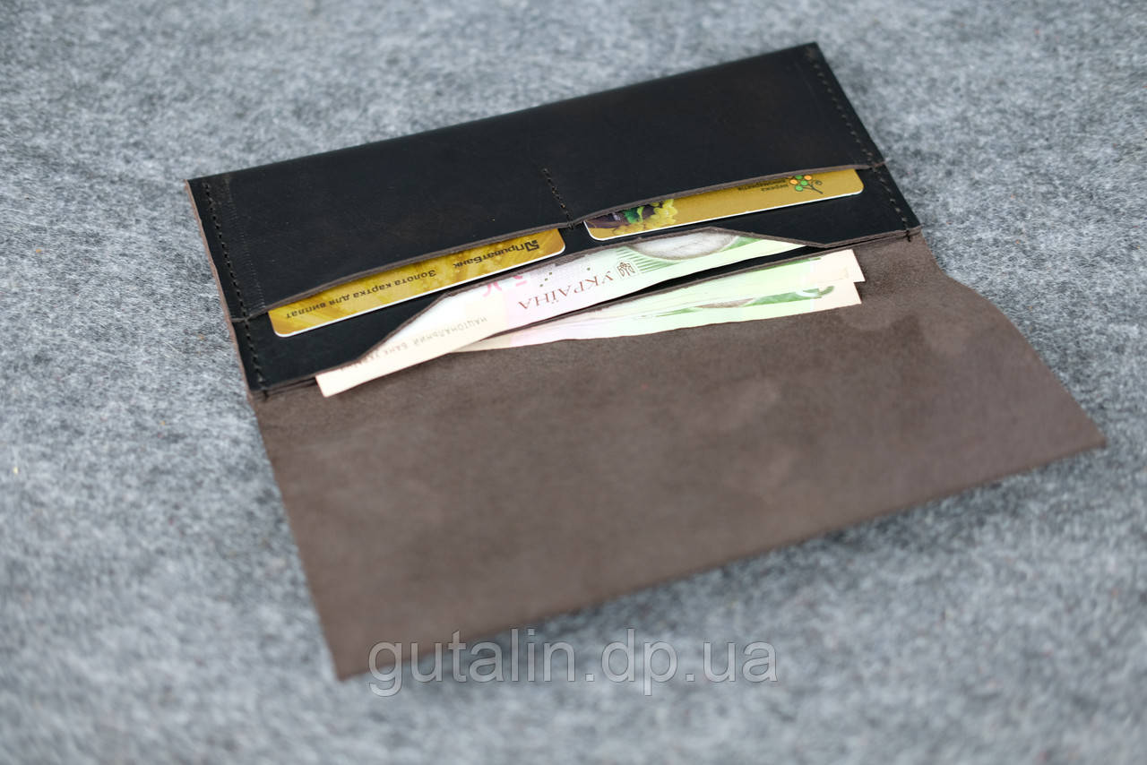 c5204368ff1e Кошелек из натуральной кожи ручной работы Vintage Италия цвет коричневый ...