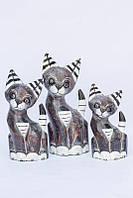 Статуэтки котов полосатые BST 530148 36, 30, 26 см  разноцветные
