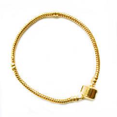 Браслет Основа в стиле Пандора, Металл, Цвет: Золото, длина 180 мм, Толщина Основы 3 - 4,5 мм.