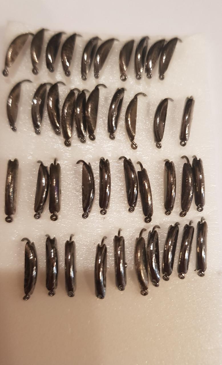 Вольфрамовая мормышка 4 сегмент Черный