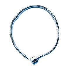 Браслет Основа в стиле Пандора, Металл, Цвет: Серебро, длина 190 мм, Толщина Основы 3 - 4,5 мм.