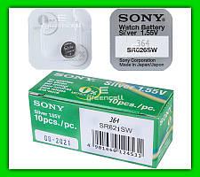 Часовая батарейка Sony 364 SR621SW 1.55V