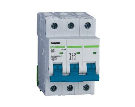 Автоматичний вимикач Noark 10кА х-ка B, 1А, 3P, Ex9BH, фото 2